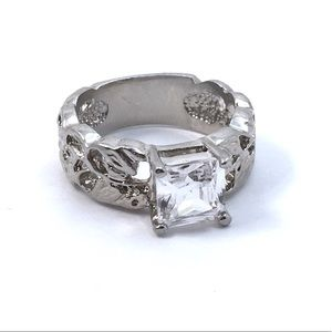 Cherryl's Jewelry - Square Cut Crystal Faux Diamond Ring